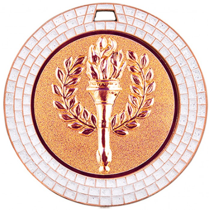 70MM VICTORY TORCH WHITE GEM MEDAL - BRONZE